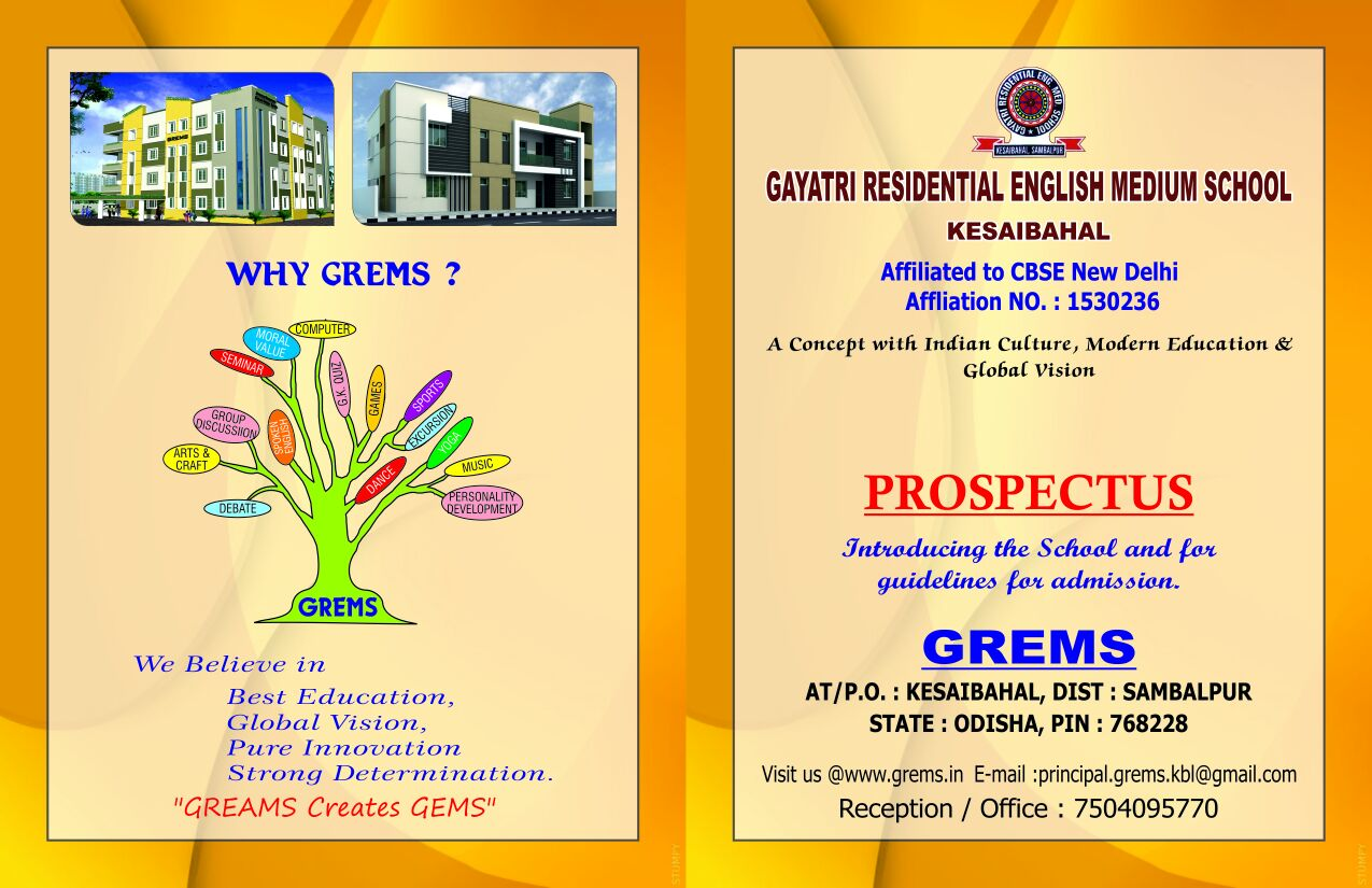 GREMS - A Concept with indian culture , modern education and global vision